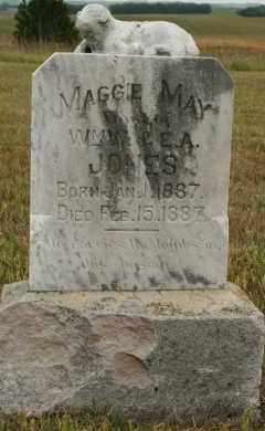 JONES, MAGGIE MAY - Cedar County, Nebraska | MAGGIE MAY JONES - Nebraska Gravestone Photos