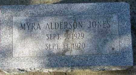 ALDERSON JONES, MYRA - Cedar County, Nebraska | MYRA ALDERSON JONES - Nebraska Gravestone Photos