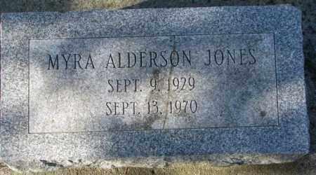 JONES, MYRA - Cedar County, Nebraska | MYRA JONES - Nebraska Gravestone Photos
