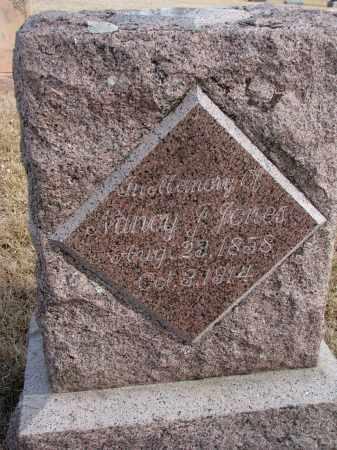 JONES, NANCY - Cedar County, Nebraska | NANCY JONES - Nebraska Gravestone Photos