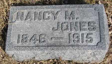 JONES, NANCY M. - Cedar County, Nebraska | NANCY M. JONES - Nebraska Gravestone Photos
