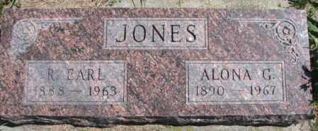 JONES, R. EARL - Cedar County, Nebraska | R. EARL JONES - Nebraska Gravestone Photos