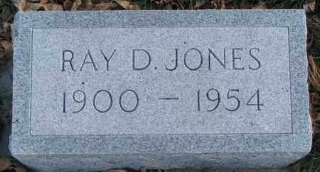 JONES, RAY D. - Cedar County, Nebraska | RAY D. JONES - Nebraska Gravestone Photos