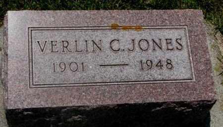 JONES, VERLIN C. - Cedar County, Nebraska | VERLIN C. JONES - Nebraska Gravestone Photos