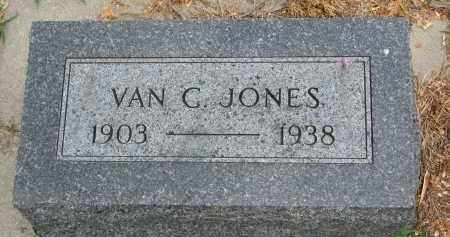 JONES, VAN G. - Cedar County, Nebraska | VAN G. JONES - Nebraska Gravestone Photos