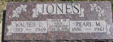 JONES, WALTER L. - Cedar County, Nebraska | WALTER L. JONES - Nebraska Gravestone Photos