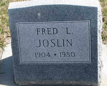 JOSLIN, FRED L. - Cedar County, Nebraska | FRED L. JOSLIN - Nebraska Gravestone Photos