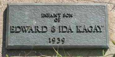 KAGAY, INFANT SON - Cedar County, Nebraska | INFANT SON KAGAY - Nebraska Gravestone Photos