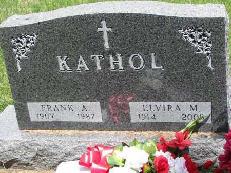 KATHOL, ELVIRA M. - Cedar County, Nebraska | ELVIRA M. KATHOL - Nebraska Gravestone Photos