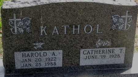 KATHOL, HAROLD A. - Cedar County, Nebraska | HAROLD A. KATHOL - Nebraska Gravestone Photos