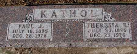 KATHOL, THERESIA E. - Cedar County, Nebraska | THERESIA E. KATHOL - Nebraska Gravestone Photos