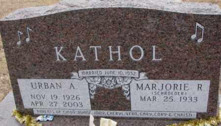 SCHROEDER KATHOL, MARJORIE R. - Cedar County, Nebraska | MARJORIE R. SCHROEDER KATHOL - Nebraska Gravestone Photos
