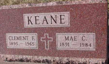 KEANE, CLEMENT F. - Cedar County, Nebraska | CLEMENT F. KEANE - Nebraska Gravestone Photos