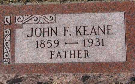 KEANE, JOHN F. - Cedar County, Nebraska | JOHN F. KEANE - Nebraska Gravestone Photos