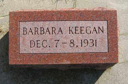 KEEGAN, BARBARA - Cedar County, Nebraska   BARBARA KEEGAN - Nebraska Gravestone Photos