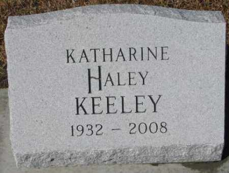 HALEY KEELEY, KATHARINE - Cedar County, Nebraska | KATHARINE HALEY KEELEY - Nebraska Gravestone Photos