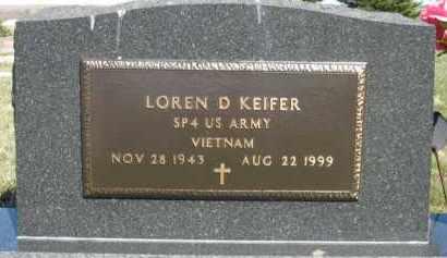 KEIFER, LOREN D - Cedar County, Nebraska | LOREN D KEIFER - Nebraska Gravestone Photos