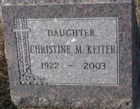 KEITER, CHRISTINE M. - Cedar County, Nebraska | CHRISTINE M. KEITER - Nebraska Gravestone Photos