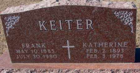 KEITER, KATHERINE - Cedar County, Nebraska | KATHERINE KEITER - Nebraska Gravestone Photos