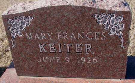 KEITER, MARY FRANCES - Cedar County, Nebraska | MARY FRANCES KEITER - Nebraska Gravestone Photos