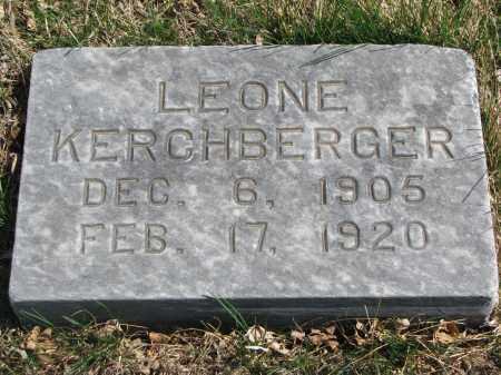 KERCHBERGER, LEONE - Cedar County, Nebraska | LEONE KERCHBERGER - Nebraska Gravestone Photos