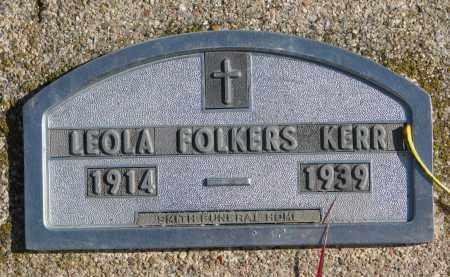 KERR, LEOLA - Cedar County, Nebraska | LEOLA KERR - Nebraska Gravestone Photos