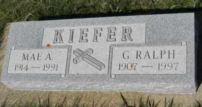 KIEFER, MAE A - Cedar County, Nebraska | MAE A KIEFER - Nebraska Gravestone Photos