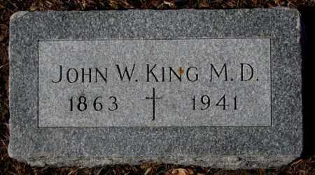 KING, JOHN W. - Cedar County, Nebraska | JOHN W. KING - Nebraska Gravestone Photos