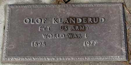 KLANDERUP, OLOF (WW I) - Cedar County, Nebraska   OLOF (WW I) KLANDERUP - Nebraska Gravestone Photos