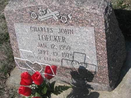 LOECKER, CHARLES JOHN - Cedar County, Nebraska | CHARLES JOHN LOECKER - Nebraska Gravestone Photos
