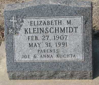 KLEINSCHMIT, ELIZABETH M. - Cedar County, Nebraska | ELIZABETH M. KLEINSCHMIT - Nebraska Gravestone Photos