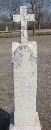 KLEINSCHMIT, GERTRUDE - Cedar County, Nebraska | GERTRUDE KLEINSCHMIT - Nebraska Gravestone Photos