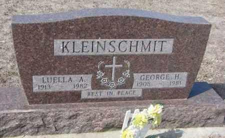 KLEINSCHMIT, LUELLA A. - Cedar County, Nebraska | LUELLA A. KLEINSCHMIT - Nebraska Gravestone Photos