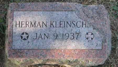 KLEINSCHMIT, HERMAN - Cedar County, Nebraska | HERMAN KLEINSCHMIT - Nebraska Gravestone Photos