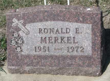 MERKEL, RONALD E. - Cedar County, Nebraska   RONALD E. MERKEL - Nebraska Gravestone Photos