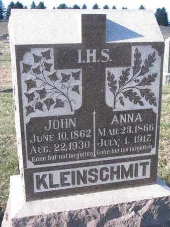KLEINSCHMIT, JOHN - Cedar County, Nebraska   JOHN KLEINSCHMIT - Nebraska Gravestone Photos