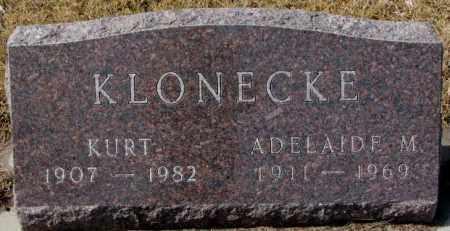 KLONECKE, ADELAIDE M. - Cedar County, Nebraska | ADELAIDE M. KLONECKE - Nebraska Gravestone Photos