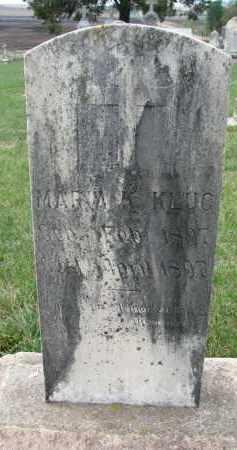 KLUG, MARIA K. - Cedar County, Nebraska   MARIA K. KLUG - Nebraska Gravestone Photos