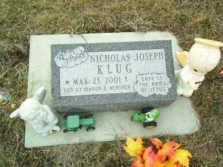 KLUG, NICHOLAS - Cedar County, Nebraska | NICHOLAS KLUG - Nebraska Gravestone Photos