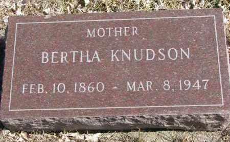KNUDSON, BERTHA - Cedar County, Nebraska | BERTHA KNUDSON - Nebraska Gravestone Photos
