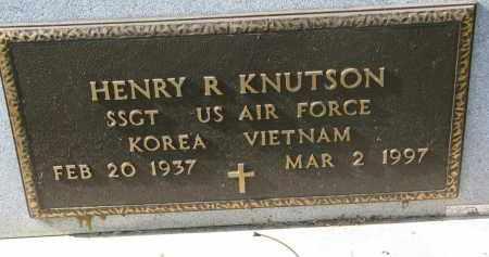KNUTSON, HENRY R. (MILITARY) - Cedar County, Nebraska | HENRY R. (MILITARY) KNUTSON - Nebraska Gravestone Photos