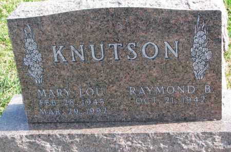 KNUTSON, MARY LOU - Cedar County, Nebraska | MARY LOU KNUTSON - Nebraska Gravestone Photos