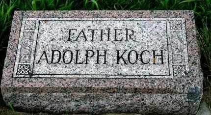 KOCH, ADOLPH - Cedar County, Nebraska   ADOLPH KOCH - Nebraska Gravestone Photos