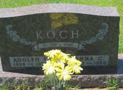 KOCH, ADOLPH F. - Cedar County, Nebraska | ADOLPH F. KOCH - Nebraska Gravestone Photos