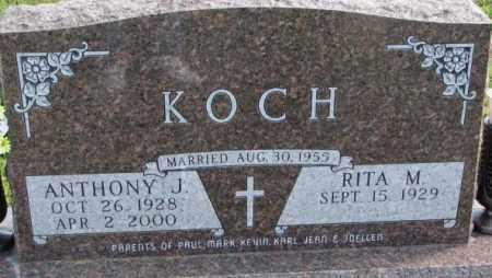 KOCH, ANTHONY J. - Cedar County, Nebraska | ANTHONY J. KOCH - Nebraska Gravestone Photos