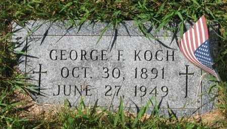 KOCH, GEORGE F. - Cedar County, Nebraska | GEORGE F. KOCH - Nebraska Gravestone Photos