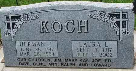 KOCH, LAURA L. - Cedar County, Nebraska | LAURA L. KOCH - Nebraska Gravestone Photos