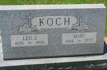 KOCH, MARY - Cedar County, Nebraska | MARY KOCH - Nebraska Gravestone Photos