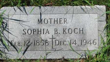 KOCH, SOPHIA B. - Cedar County, Nebraska | SOPHIA B. KOCH - Nebraska Gravestone Photos