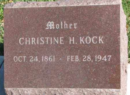 KOCK, CHRISTINE H. - Cedar County, Nebraska | CHRISTINE H. KOCK - Nebraska Gravestone Photos